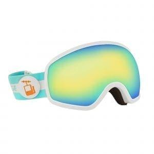 skibrille hvit ramme goggles bla rebel