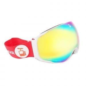 skibrille hvit goggles rod renegade