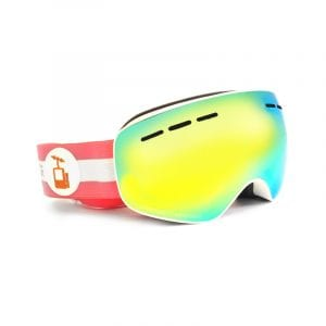 goggles hvit skibrille barn rosa pioneer
