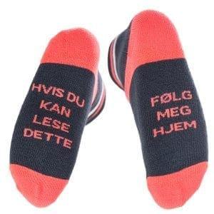 tursokker morsomme sokker folg meg hjem fersken svart