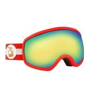 Goggles rød skibrille ramme rebel