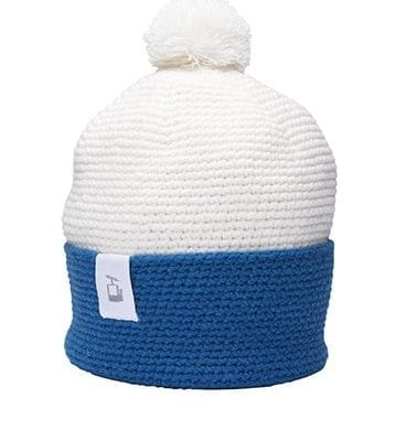 LQ Crochet Beanie White Mountain blue