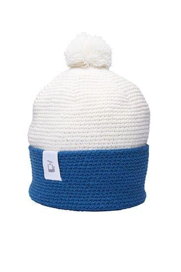 LQ Crochet Beanie White Mountain blue